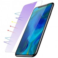 iPhone XS Max - Protection d'Écran Ultra-Thin en Verre Trempé BASEUS - 0,15 mm - Anti Rayure Reflet Lumière Bleue