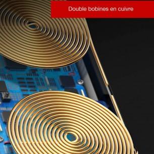 Double Chargeur Qi BASEUS - 5/7,5/10W - Rechargement Sans Fil Induction Universelle