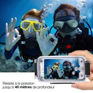 iPhone 7 & 8 Plus - Caisson Étanche Transparent pour Prises de Vues Sous-Marines - Étanche jusqu'à 40 Mètres