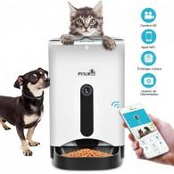 Distributeur de Nourriture PETWANT PF103 - Connexion WiFi & Caméra HD - Contrôle & Programmation via Smartphone - Capacité 4,3L