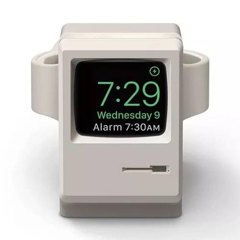 Support de Charge pour Apple Watch - Réplique Macintosh en Silicone
