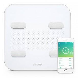 Balance Connectée YUNMAI Color 2 - Batterie Intégrée Rechargeable - 17 Indicateurs de Santé