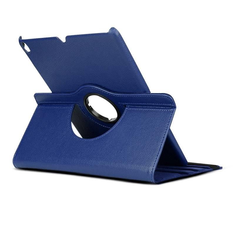 iPad Pro 11' - Étui Inclinable Rotatif - Texture Litchi - Bleu nuit