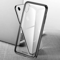 iPhone XR - Coque BASEUS en Silicone & Verre Trempé Transparent