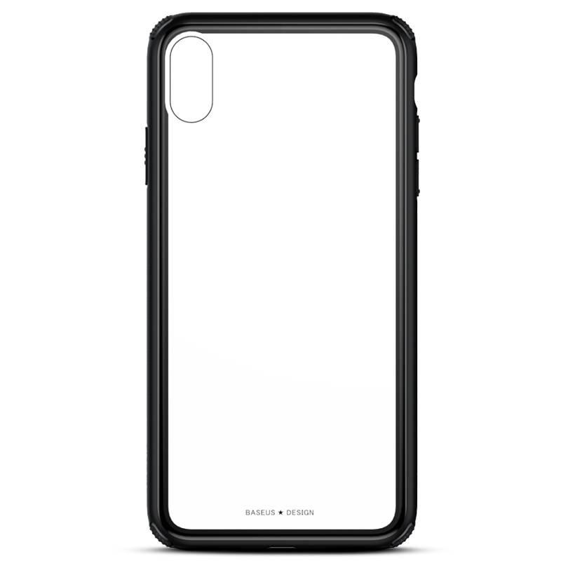 iPhone XR - Coque BASEUS en Silicone & Verre Trempé Transparent