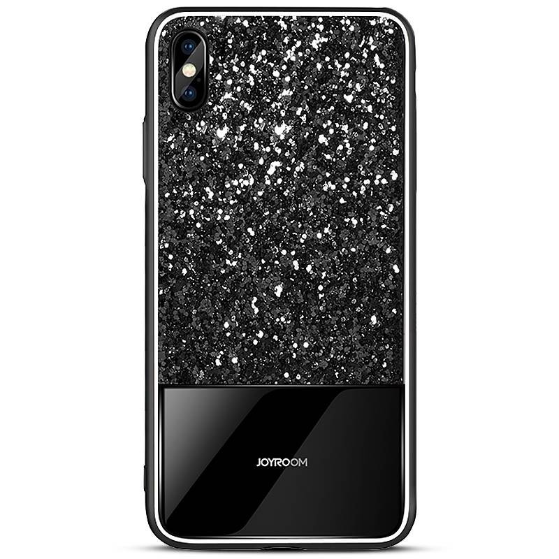 "iPhone XS Max - Coque JOYROOM ""Dazzling Series"" - Revêtement à Paillettes"