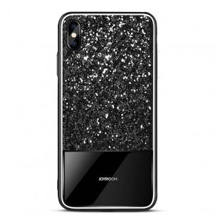 """iPhone X & XS - Coque JOYROOM """"Dazzling Series"""" - Revêtement à Paillettes"""