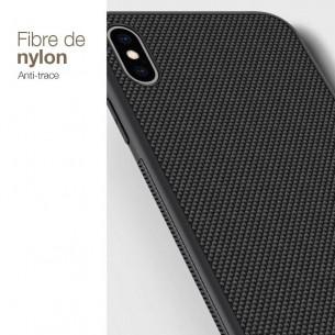 iPhone XS Max - Coque NILLKIN Double Matière Silicone & Fibre de Nylon