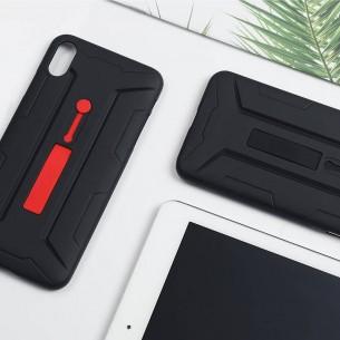 iPhone XS Max - Coque NILLKIN Grip Case avec Poignée Rétractable