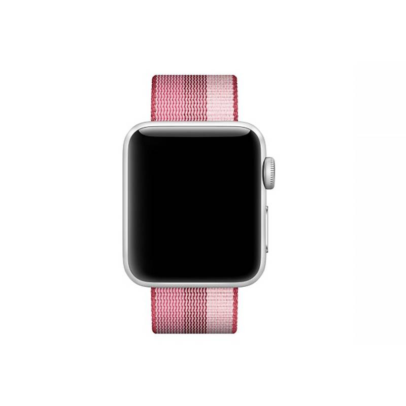 Bracelet Nylon pour Apple Watch - Fermeture par Boucle - Rouge