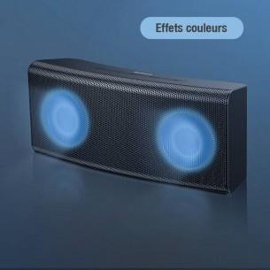 Enceinte Bluetooth BASEUS Encok E08 - Double Haut-Parleur Lumineux - Pose Horizontale ou Verticale