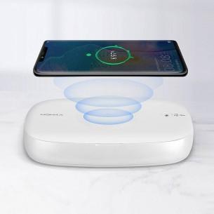 Chargeur Induction & Stérilisateur MOMAX Q.Power - Recharge Rapide 5/7,5/10W - Stérilisateur UV avec Diffuseur de Parfum