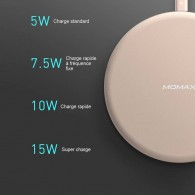 Chargeur induction MOMAX Q.Pad Max - 15 Watts - Rechargement Sans Fil par Induction Universelle