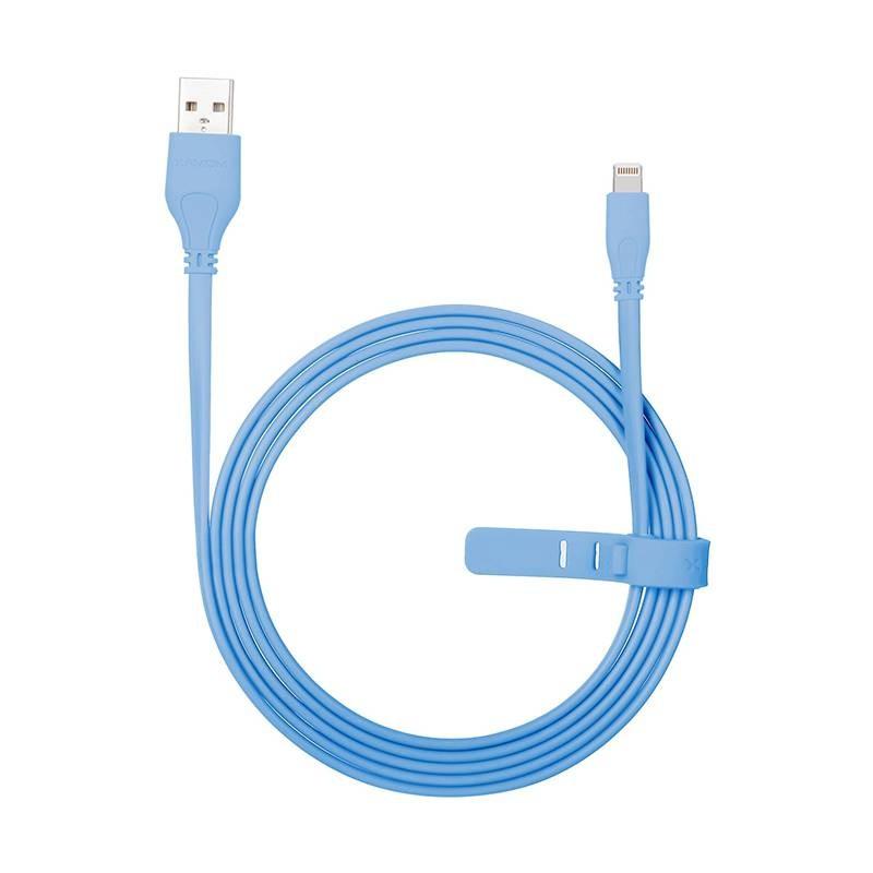 Câble Lightning MOMAX Go Link 2,4A - Certifié MFi - Gainage Plat Anti-Emmêlement - 1,50 ou 2 mètres
