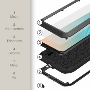 Huawei P30 Pro - Coque LOVEMEI Powerful - Anti-choc - Anti-Poussière - Etanche Projection d'Eau