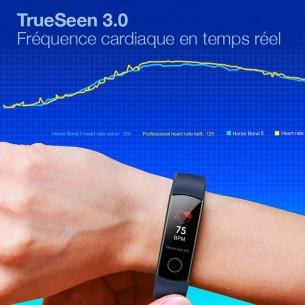 Bracelet Connecté HONOR Band 5 - Écran AMOLED - Traqueur d'Activité & Sommeil - Fréquence Cardiaque - Oxymètre - Étanche 50m