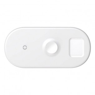 Chargeur Qi BASEUS 3-en-1 pour Smartphone Android/iPhone - Apple Watch - AirPods