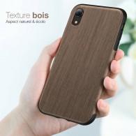 iPhone XR - Coque ROCK avec Feuille de Bois Naturelle