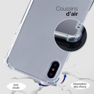 iPhone XS Max - Coque Transparente avec Tour de Cou Ajustable