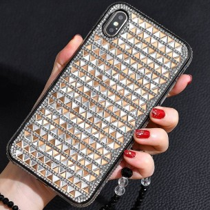 iPhone XS Max - Coque Strass Losanges