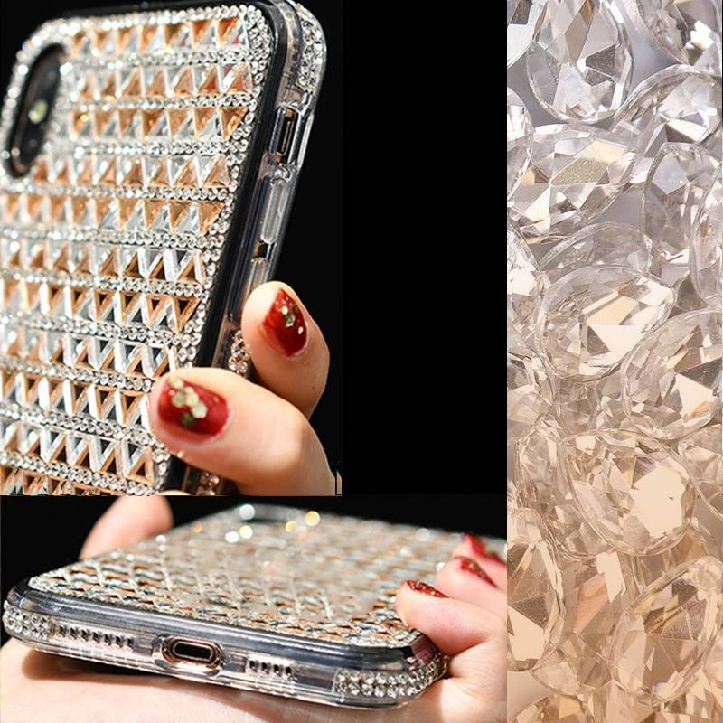 iPhone X & XS - Coque Strass Losanges