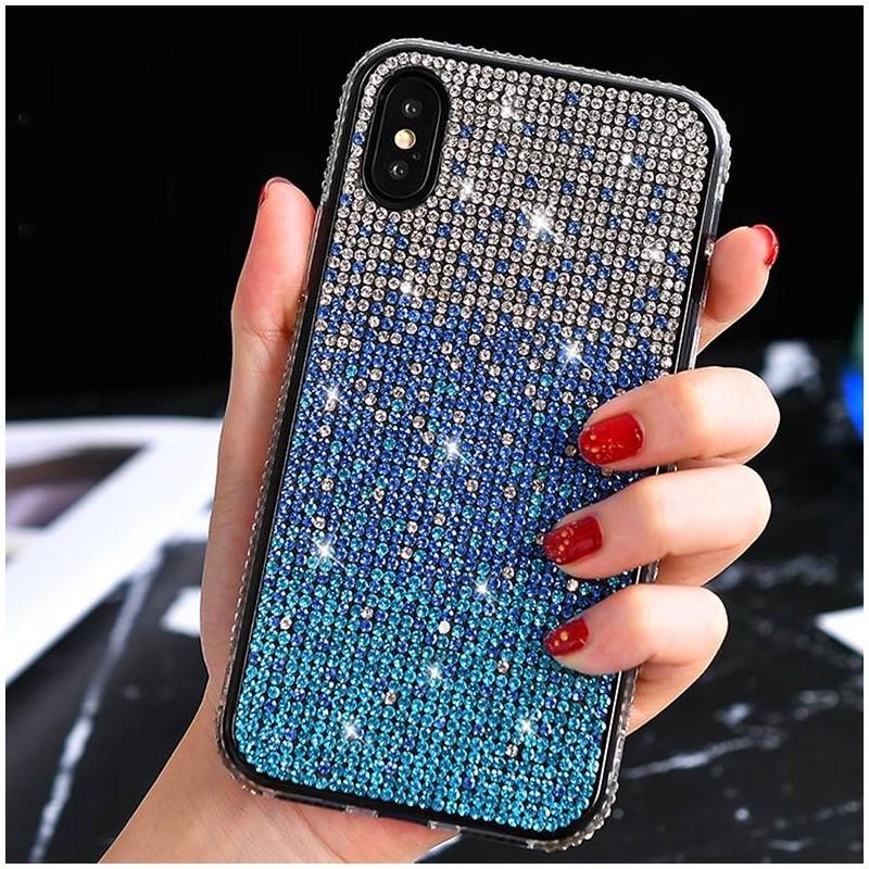iPhone X & XS - Coque Strass Dégradé de Couleurs