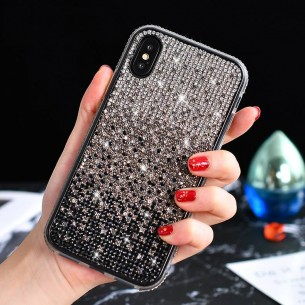 iPhone XS Max - Coque Strass Dégradé de Couleurs