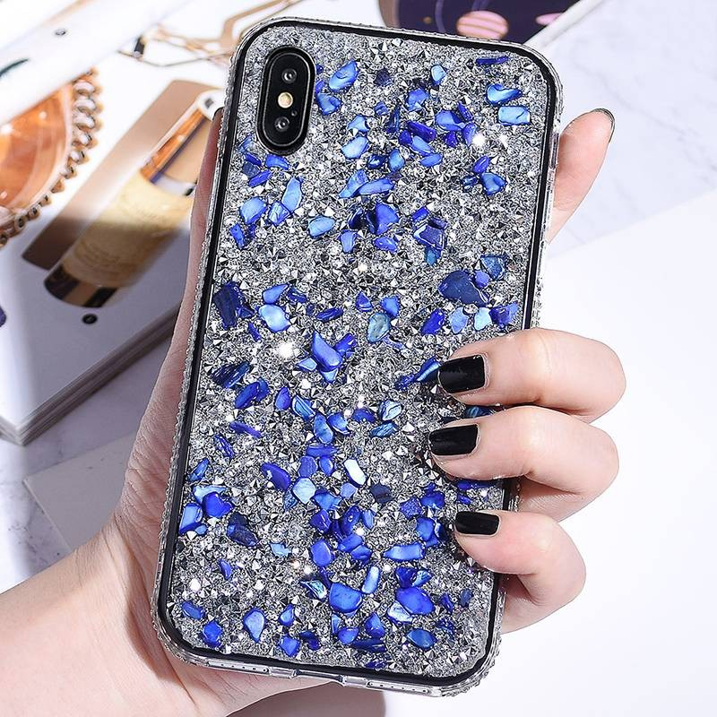 iphone x xs coque strass galets