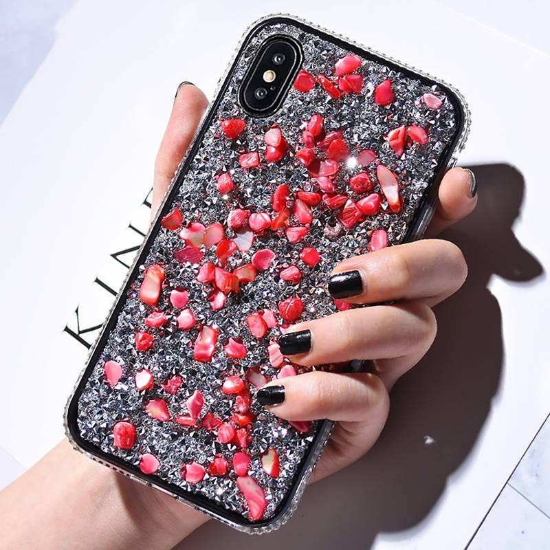 iPhone X & XS - Coque Strass & Galets