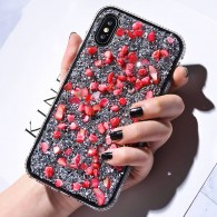 iPhone XS Max - Coque Strass & Galets