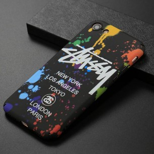 iPhone 7 & 8 - Coque Silicone avec Motif Graffiti Phosphorescent NY Los Angeles