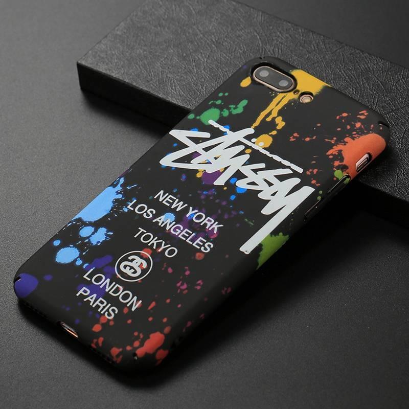 iPhone 7 Plus & 8 Plus - Coque avec Motif Graffiti Phosphorescent NY Los Angeles