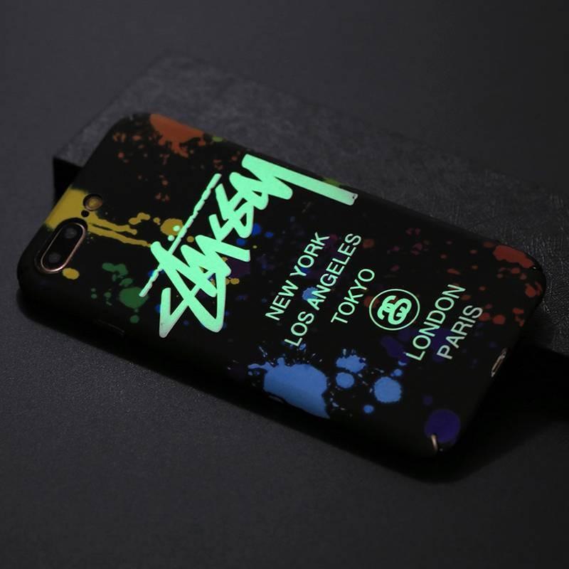 iPhone 7 Plus & 8 Plus - Coque Silicone avec Motif Graffiti Phosphorescent NY Los Angeles