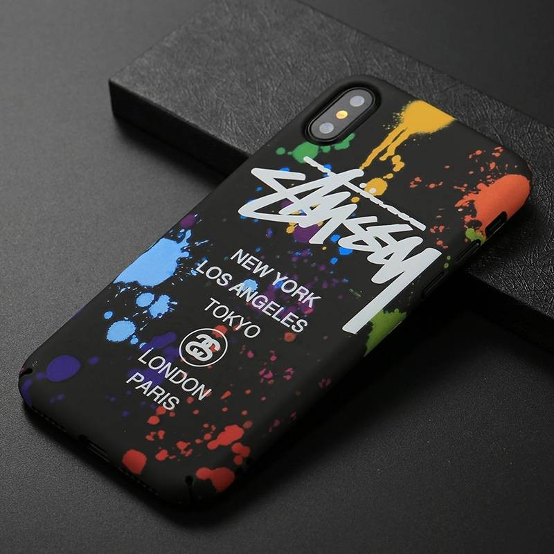 iPhone XS Max - Coque Silicone avec Motif Graffiti Phosphorescent NY Los Angeles