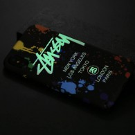 iPhone XR - Coque Silicone avec Motif Graffiti Phosphorescent NY Los Angeles