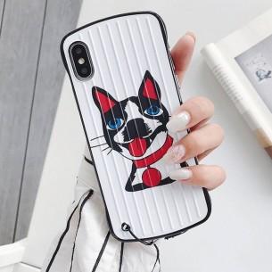 """iPhone XS Max - Coque Anneau Dragonne Motif """"Toutou"""""""
