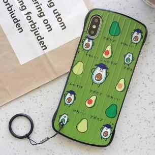 """iPhone XS Max - Coque Anneau Dragonne Motif """"Avocats"""""""