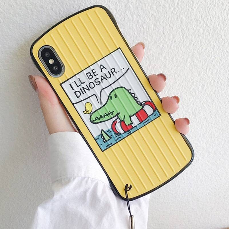"""iPhone X & XS - Coque Anneau Dragonne Motif """"Crocodile"""""""
