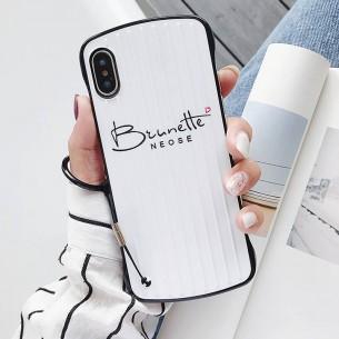 "iPhone X & XS - Coque Anneau Dragonne Motif ""Brunette"""
