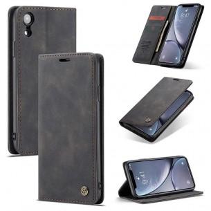 iPhone XR - Étui Portefeuille CaseMe - Imitation Daim - Pochettes CB