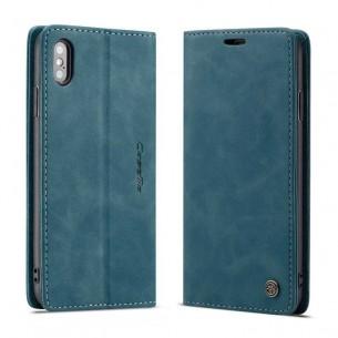 iPhone XS Max - Étui Portefeuille CaseMe - Imitation Daim - Pochettes CB