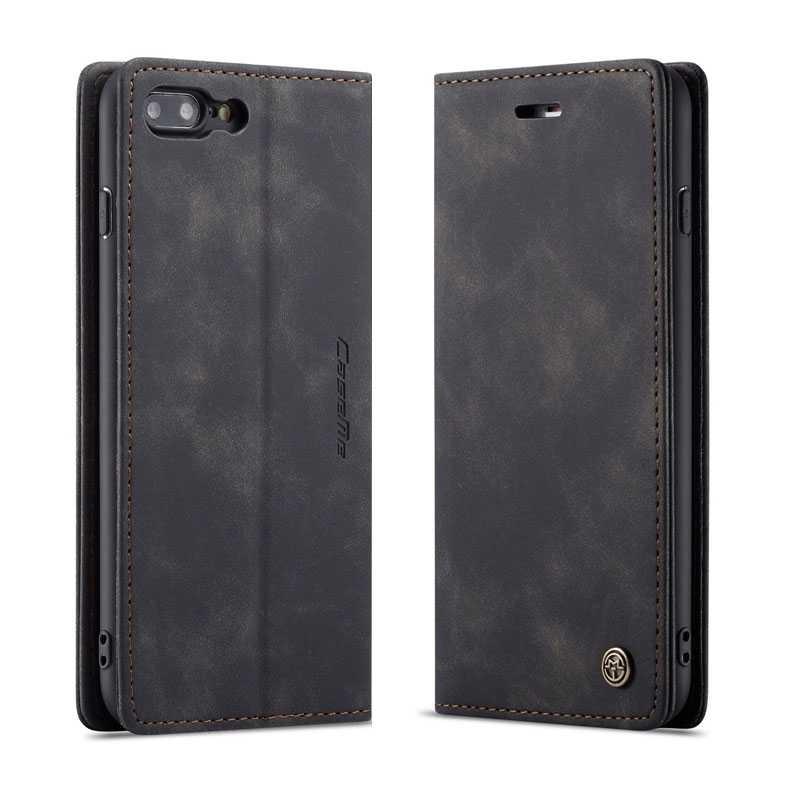 iPhone 7 Plus & 8 Plus - Étui Portefeuille CaseMe - Imitation Daim - Pochettes CB