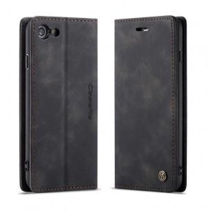iPhone 7 & 8 - Étui Portefeuille CaseMe - Imitation Daim - Pochettes CB