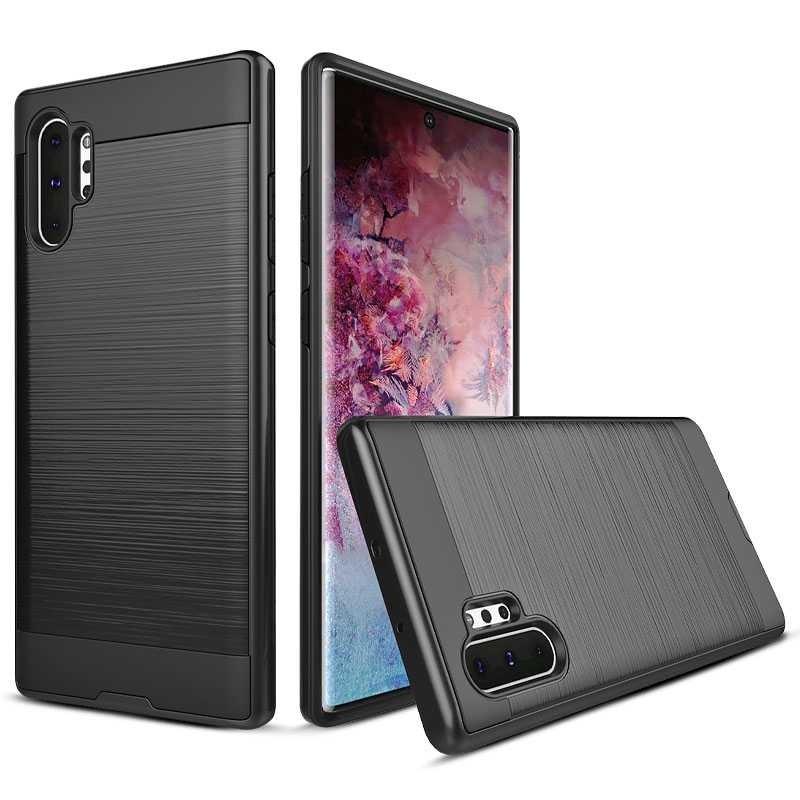 Galaxy Note 10 Plus - Coque Brossée Double Matière