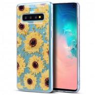 Galaxy S10 - Coque TPU Transparente avec Motif Tournesols