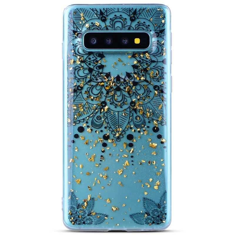 Galaxy S10 Plus - Coque TPU Transparente avec Motif Fleur Datura