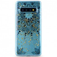 Galaxy S10 - Coque TPU Transparente avec Motif Fleur Datura