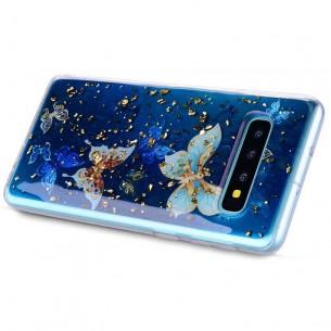 Galaxy S10 Plus - Coque TPU Transparente avec Motif Papillons