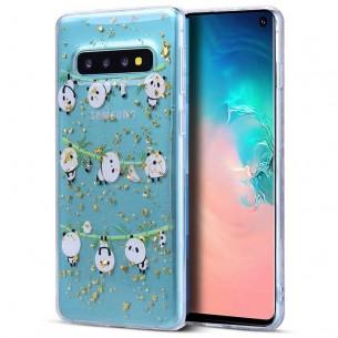 Galaxy S10 - Coque TPU Transparente avec Motif Pandas