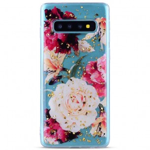 Galaxy S10 - Coque TPU Transparente avec Motif Fleurs